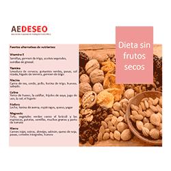 Nutrientes sin frutos secos